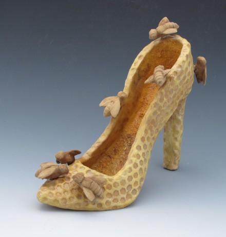 Beekeeper Shoe Sculpture